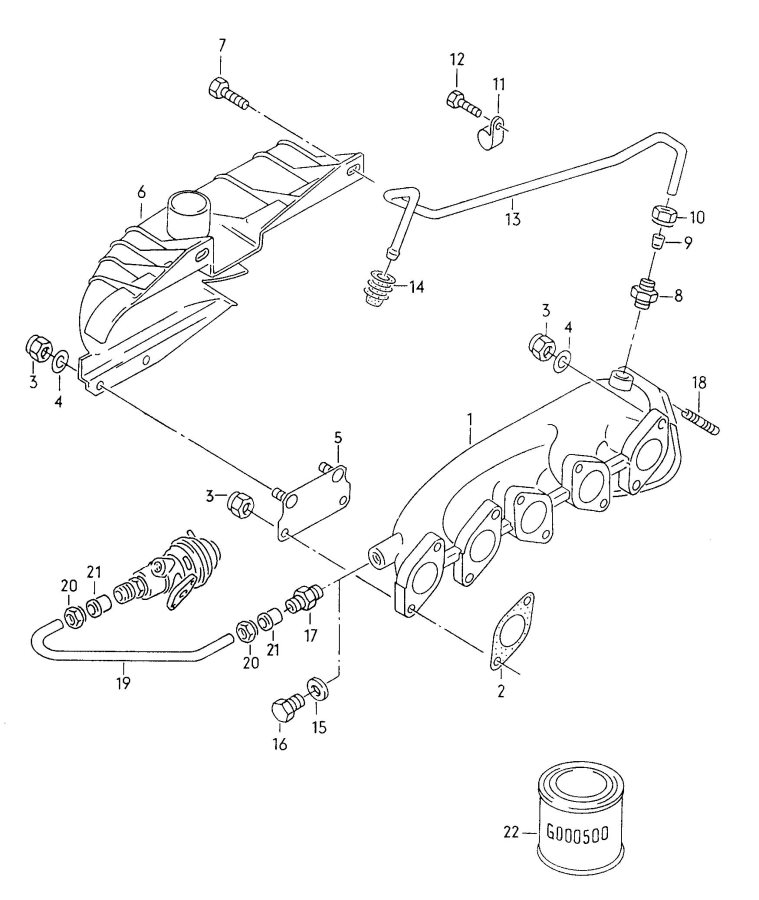 1991 Audi Coupe Quattro Exhaust Manifold 2 3ltr 2 3ltr