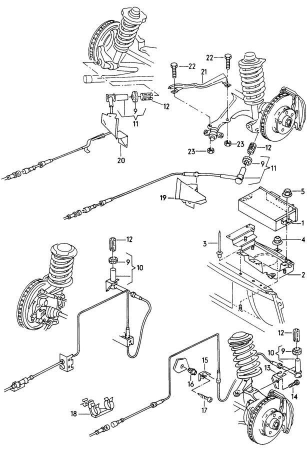 1998 audi a6 quattro 2 8l control unit for abs speed sensor
