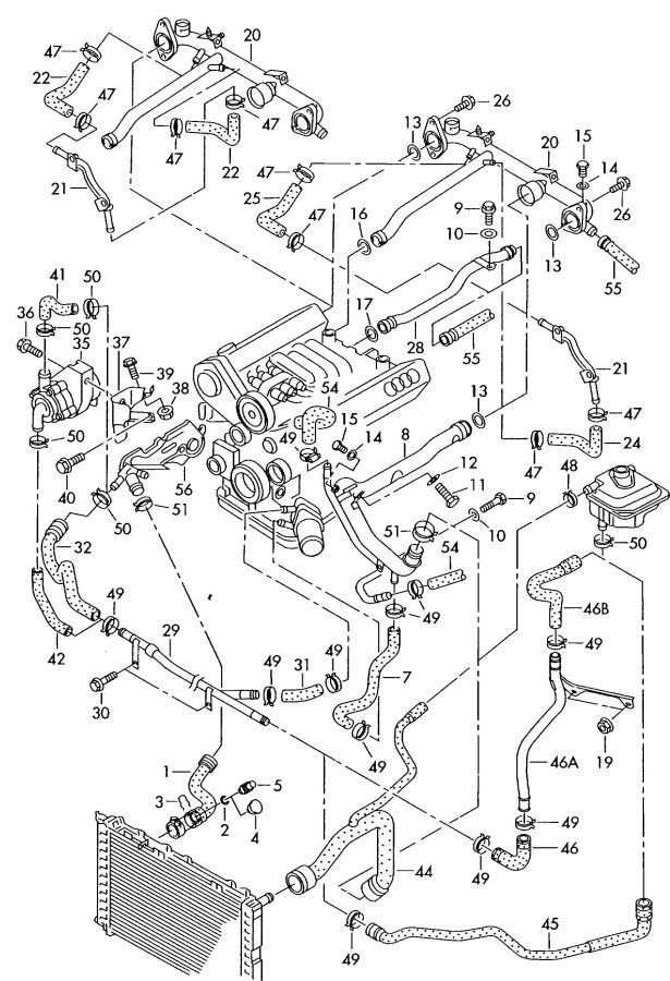 2001 honda civic water pump diagram