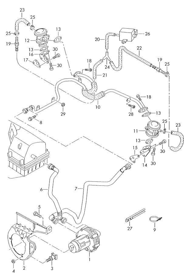 Engine Vacuum Hose Diagram On 1996 Audi A6 Quattro Engine Diagram